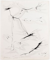 untitled [lyrical black and white] by dorothy dehner